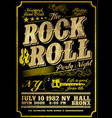 rock poster design style vector image vector image