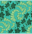 seamless floral pattern in graphic in dark and vector image vector image