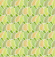Seamless stylized foliage pattern vector image vector image