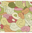 Seamless tangled pattern in colors vector image vector image