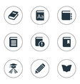 set simple education icons vector image vector image