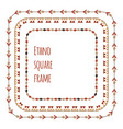 set square flat tribal frames from branches vector image vector image