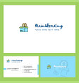 shopping logo design with tagline front and back vector image vector image