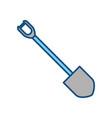 shovel tool construction vector image