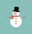 snowman icon flat style eps10 vector image