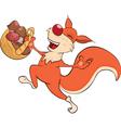 squirrel cartoon vector image vector image