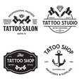 tattoo studio logo templates on white vector image vector image