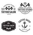 Tattoo studio logo templates on white