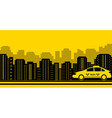 taxi city background vector image