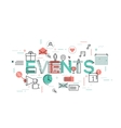 Thin line flat design banner for events web page vector image vector image