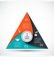 triangle infographic vector image vector image