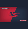 versus background sport competition vs poster vector image vector image