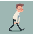 Vintage Businessman Walk Sad Tired Weary Character vector image vector image