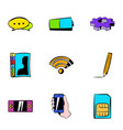 wi fi icons set cartoon style vector image vector image