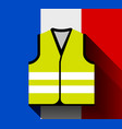 yellow vests as a symbol protests in france vector image