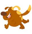 running dog animal character vector image