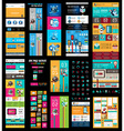 Mega Collection of Website templates web headers vector image