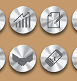 business steel icon vector image
