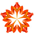 Abstract red and orange pattern vector image vector image
