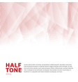 abstract red halftone template low poly trendy on vector image vector image