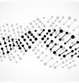 abstract spiral of dna molecular vector image