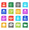 accaunt icon set in grunge style vector image