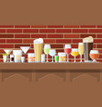 alcohol drinks collection in glasses vector image