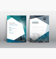 annual report cover brochure flyer design template vector image vector image