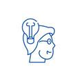 awareness line icon concept awareness flat vector image
