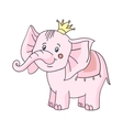 baby elephant pink-01 vector image vector image