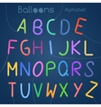 Balloons alphabet letters vector image vector image