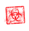 biohazard sign red grunge rubber stamp vector image vector image