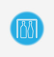 bottle icon sign symbol vector image vector image