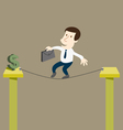 Business man to risk for money vector image