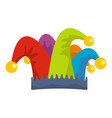 carnival jester icon flat style vector image vector image