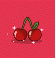 cherry nutrition diet fresh image vector image