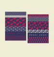 classic xmas simple pattern for header card vector image