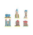 collection towers and historic buildings vector image vector image