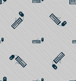 Computer keyboard and mouse Icon Seamless pattern vector image vector image