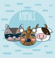 cute animals friends cartoon