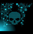 cyber attack background vector image vector image