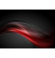 Dark red glow waves background vector image vector image