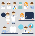 Doctor and nurse Symbol Icons Set vector image vector image