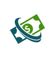dollar bill logo icon vector image vector image