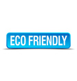 eco friendly blue 3d realistic square isolated vector image vector image