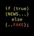 fake news concept design vector image