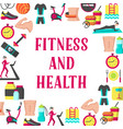 fitness and health frame vector image