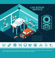 flat car service concept vector image vector image