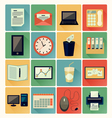 flat icons Office 01 vector image vector image