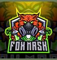 fox mask esport mascot logo design vector image vector image